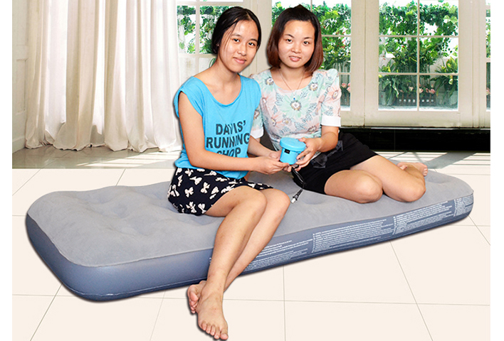 Flocked single air bed, Youth Airbed